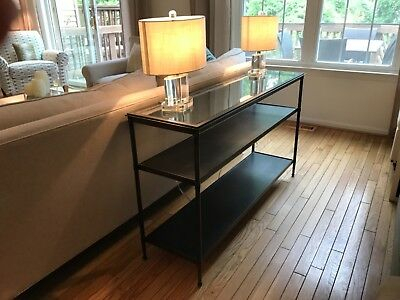 Newest Kyra Console Tables For Metal And Glass Crate&barrel Kyra Sofa Table – $ (View 6 of 25)