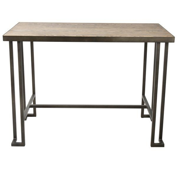 Newest Parsons Clear Glass Top & Brass Base 48X16 Console Tables with Calistoga Counter Height Dining Table