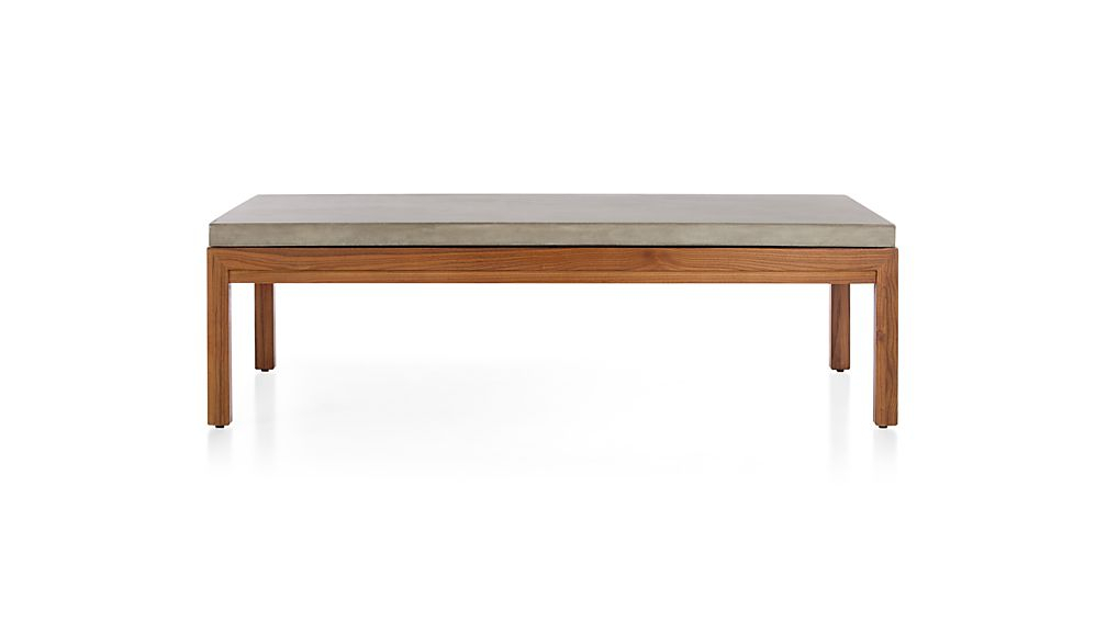 Newest Parsons Grey Solid Surface Top & Elm Base 48X16 Console Tables For Parsons Concrete Top/ Elm Base 60X36 Large Rectangular Coffee Table (Image 11 of 25)