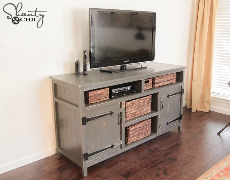 Newest Rustic Wood Tv Cabinets For 11 Free Diy Tv Stand Plans You Can Build Right Now (Image 16 of 25)