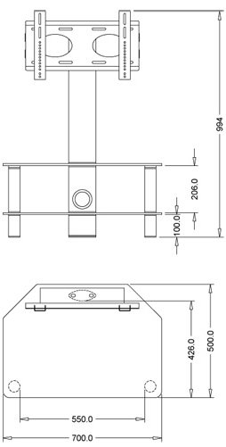 Newest Stil Tv Stands Pertaining To Stil Stand Stuk 2052Chbl Tv Stands (Image 11 of 25)