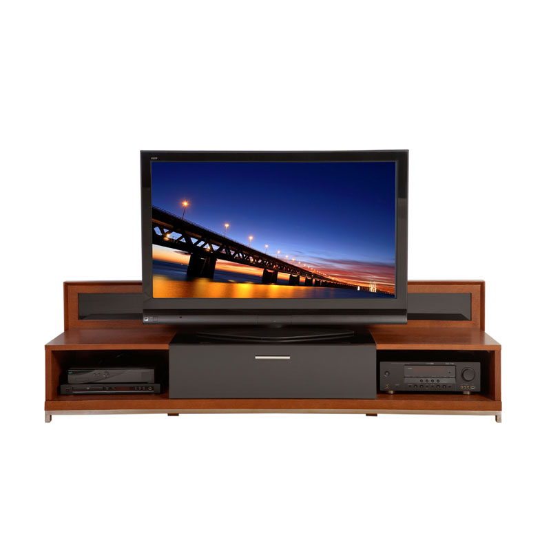 Newest Valencia 70 Inch Tv Stands Within Plateau Valencia Series Backlit Modern Wood Tv Stand For 51 80 Inch (Image 17 of 25)