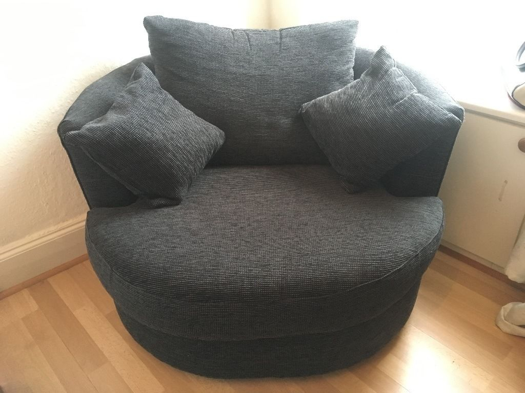 Next Charcoal Swivel Chair In Excellent Condition | In New Town For Charcoal Swivel Chairs (Photo 12 of 25)