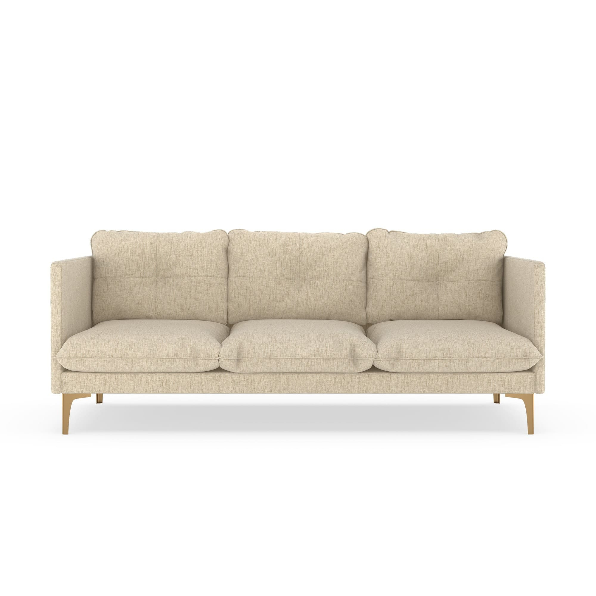 Nye Koncept Rory Seashell Pebble Weave Sofa With Brass Leg & Reviews Pertaining To Rory Sofa Chairs (Image 10 of 25)