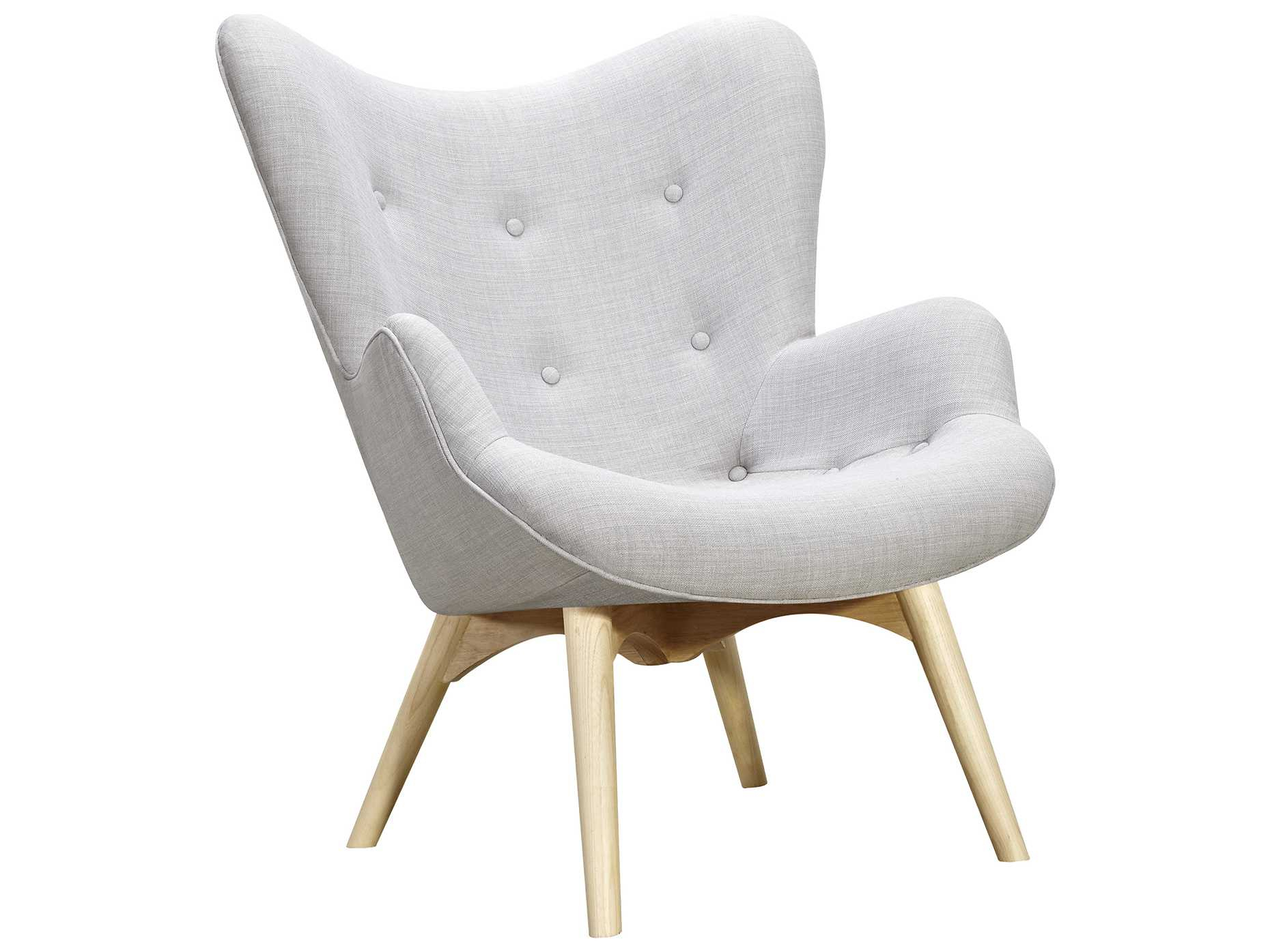 Nyekoncept Aiden Glacier White Accent Chair & Ottoman With Natural regarding Aidan Ii Swivel Accent Chairs