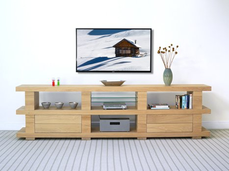 Oak Media Cabinets & Walnut Tv Cabinets For Favorite Bespoke Tv Cabinet (Photo 11 of 25)
