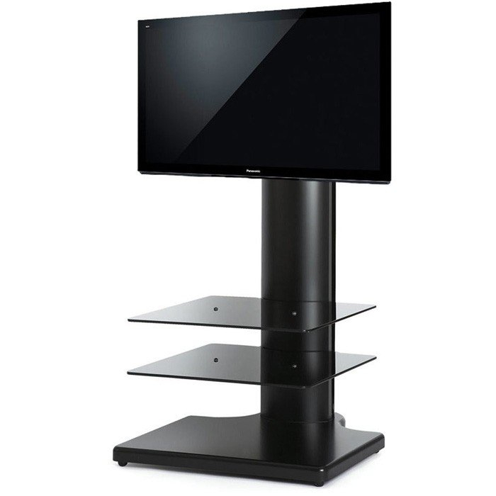 """Off-The-Wall Origin S1 Cantilever Tv Stand In Black For Tv's Up To 32"""" within Well-liked Cheap Cantilever Tv Stands"""