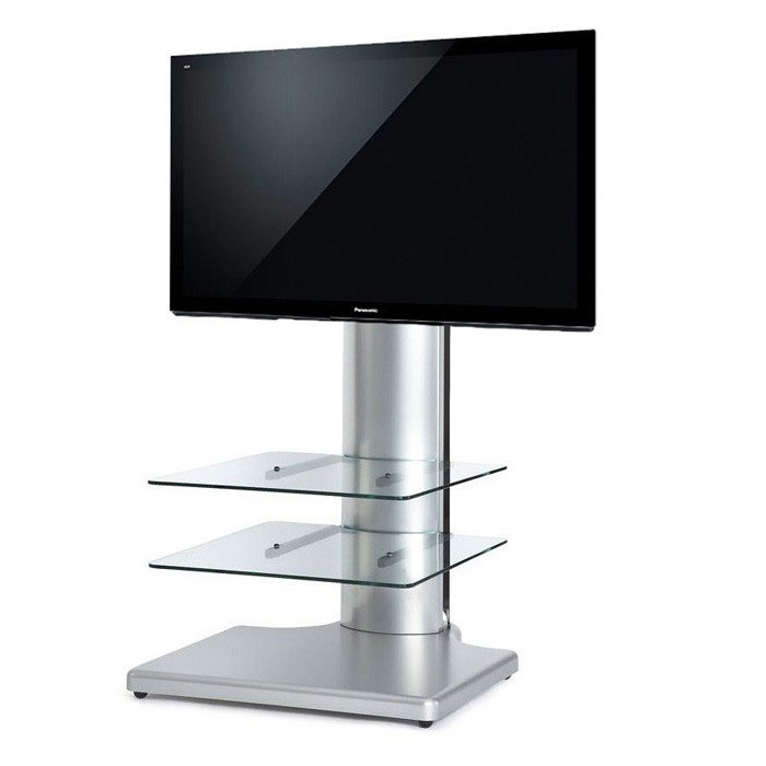 "Off The Wall Origin S1 Cantilever Tv Stand In Silver For Tv's Up To 32"" With Favorite Cheap Cantilever Tv Stands (Photo 6551 of 7746)"