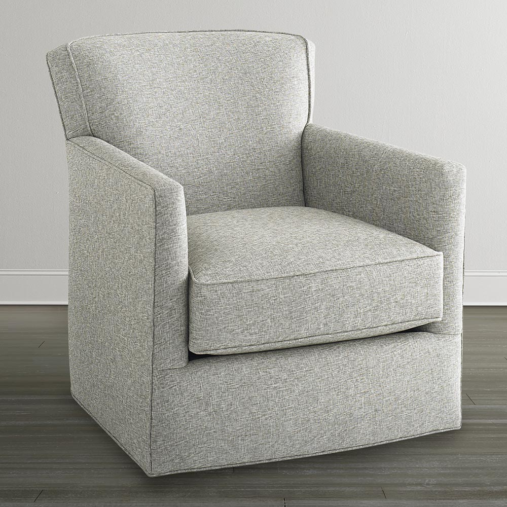 Off White Swivel Glider Chair Pertaining To Harbor Grey Swivel Accent Chairs (Photo 6 of 25)