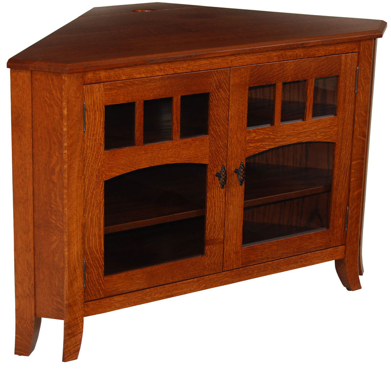 Old World #32N Corner Tv Stand – Ohio Hardwood & Upholstered Furniture Inside Latest Tv Stands For Corners (Photo 7211 of 7746)