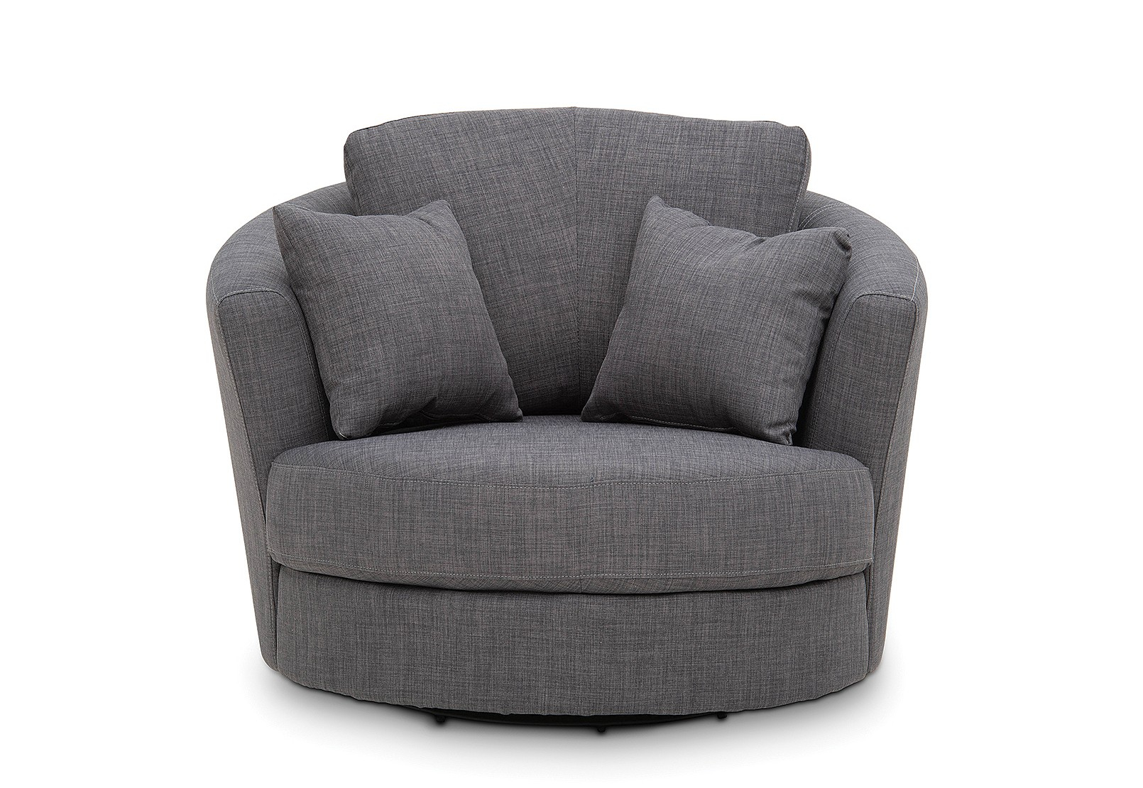 Omaha Fabric Swivel Chair | Amart Furniture Throughout Dark Grey Swivel Chairs (Photo 21 of 25)