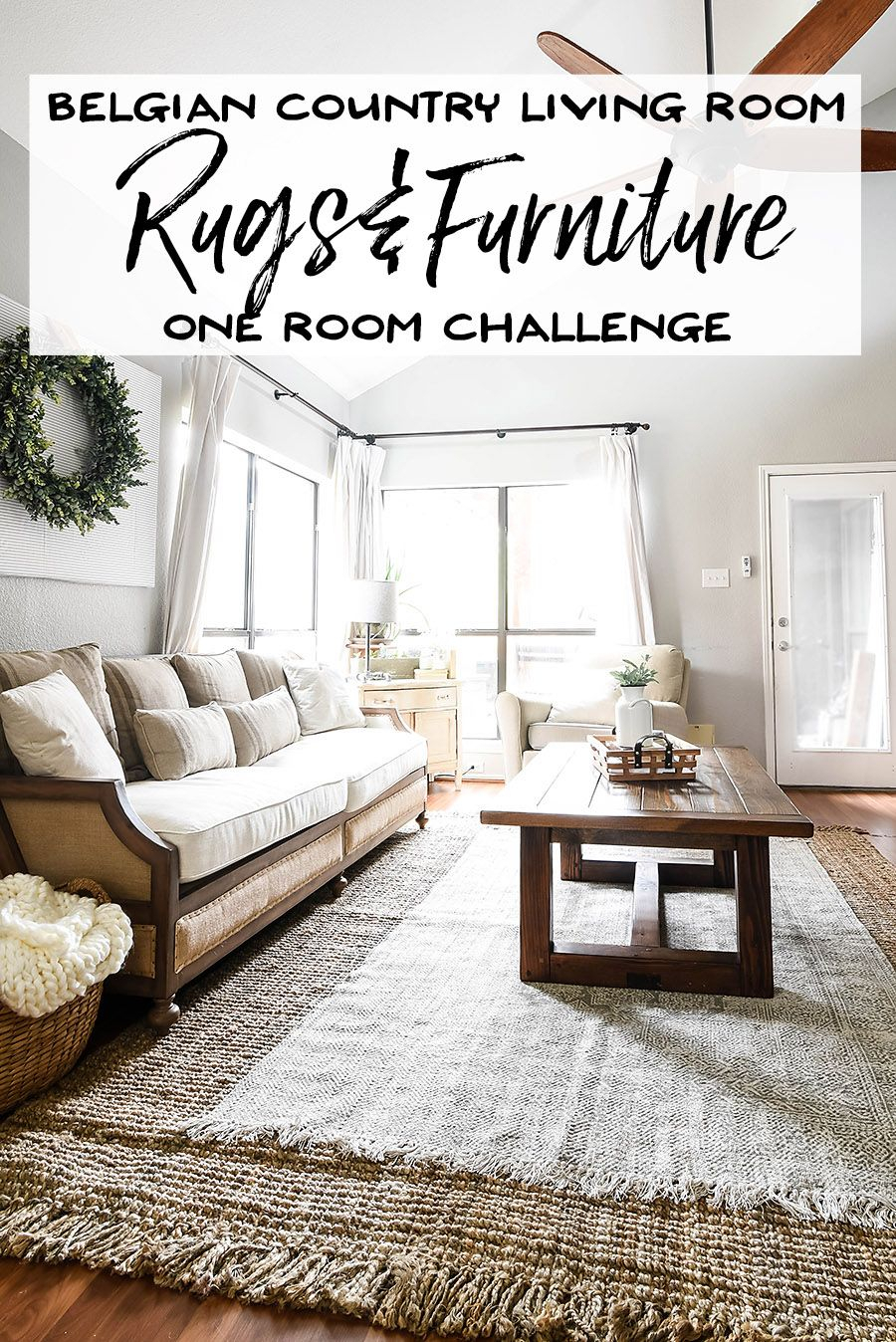 One Room Challenge Week 3 - Living Room Rugs And Furniture | Project throughout Magnolia Home Foundation Leather Sofa Chairs