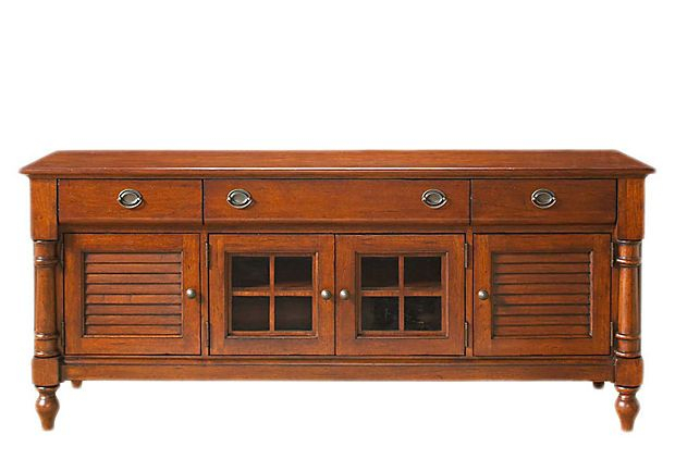"""Onekingslane: Toby Media Console Pecan (From """"the Relaxed Living Intended For Most Recently Released Tobias Media Console Tables (Image 12 of 25)"""