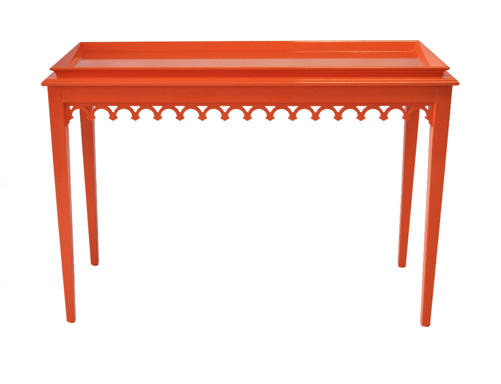 Oomph Newport Knockout Orange Console Table Domino Bone Inlay For Most Popular Orange Inlay Console Tables (Photo 2 of 25)