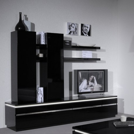 Orde -Black Gloss Tv Stand - Tv Stands (1332) - Sena Home Furniture for 2017 Black Gloss Tv Stands
