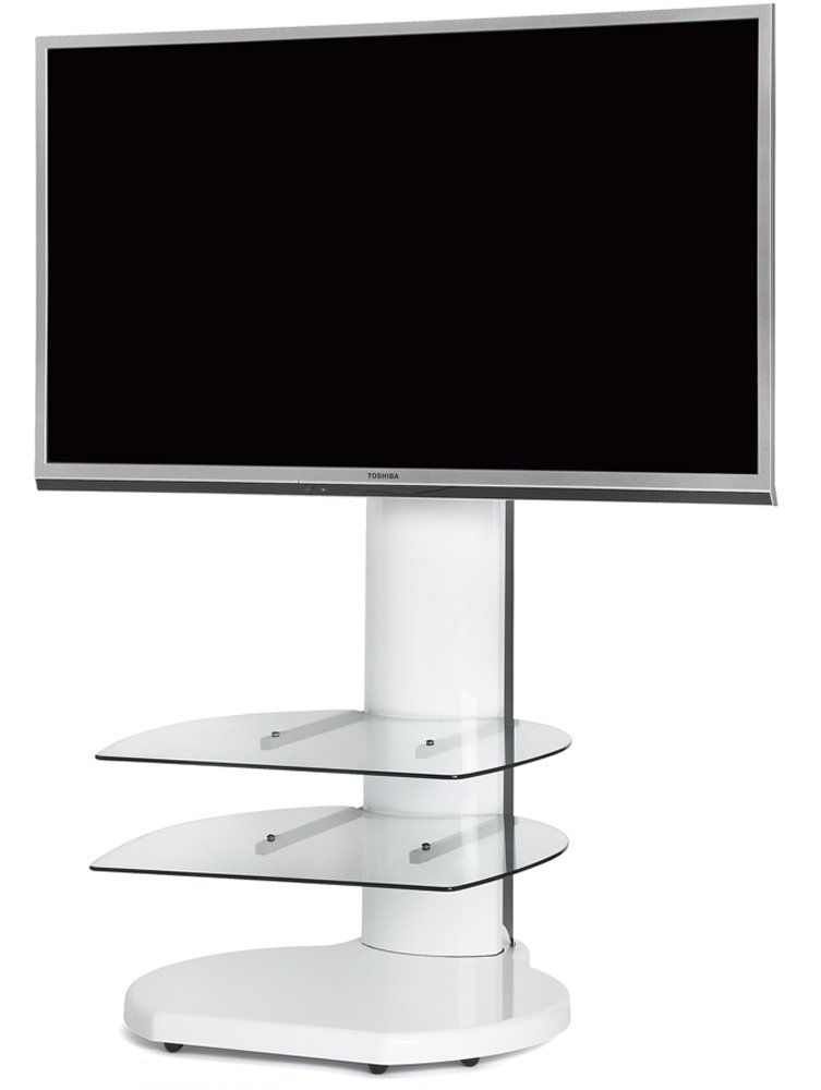Origin Ii S4 White Cantilever Tv Stand Pertaining To Recent White Cantilever Tv Stand (Photo 2 of 25)