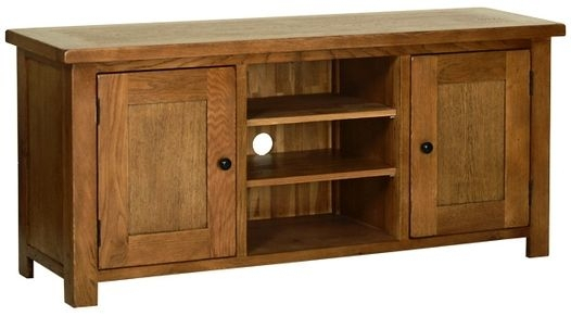 Original Rustic Oak Large Rustic Oak Tv Cabinet Bathroom Mirror In Well Liked Rustic Wood Tv Cabinets (Image 17 of 25)
