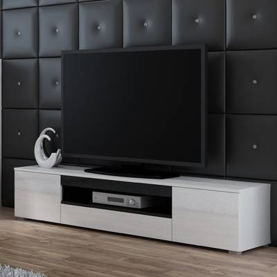 "Orren Ellis Tysen High Gloss Tv Stand For Tvs Up To 60"" & Reviews For Most Recent Maddy 60 Inch Tv Stands (Photo 23 of 25)"