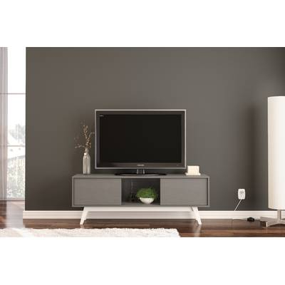 "Orren Ellis Tysen High Gloss Tv Stand For Tvs Up To 60"" & Reviews With Regard To Best And Newest Maddy 70 Inch Tv Stands (Photo 16 of 25)"