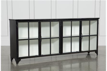 Otb Satin Black & Painted White Sideboard – Main (Image 11 of 13)