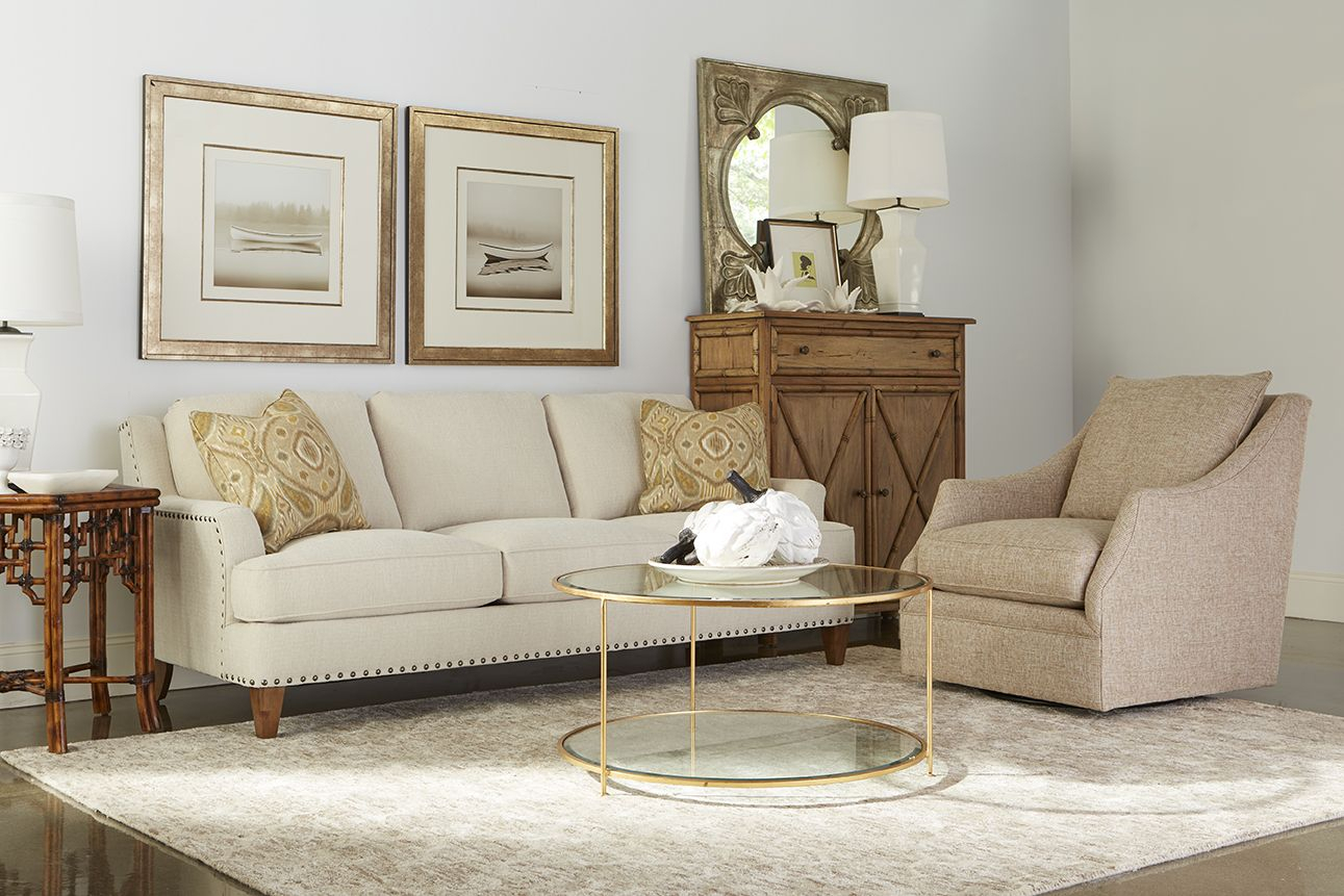 Our Brenner Sofa Is Featured In A Luxurious Crypton Home Performance Regarding Gwen Sofa Chairs By Nate Berkus And Jeremiah Brent (View 21 of 25)