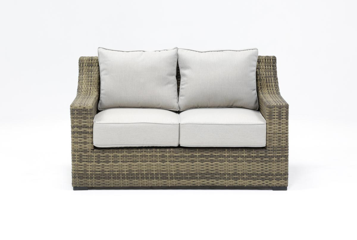 Outdoor Aventura Loveseat | Living Spaces Inside Outdoor Koro Swivel Chairs (Photo 11 of 25)