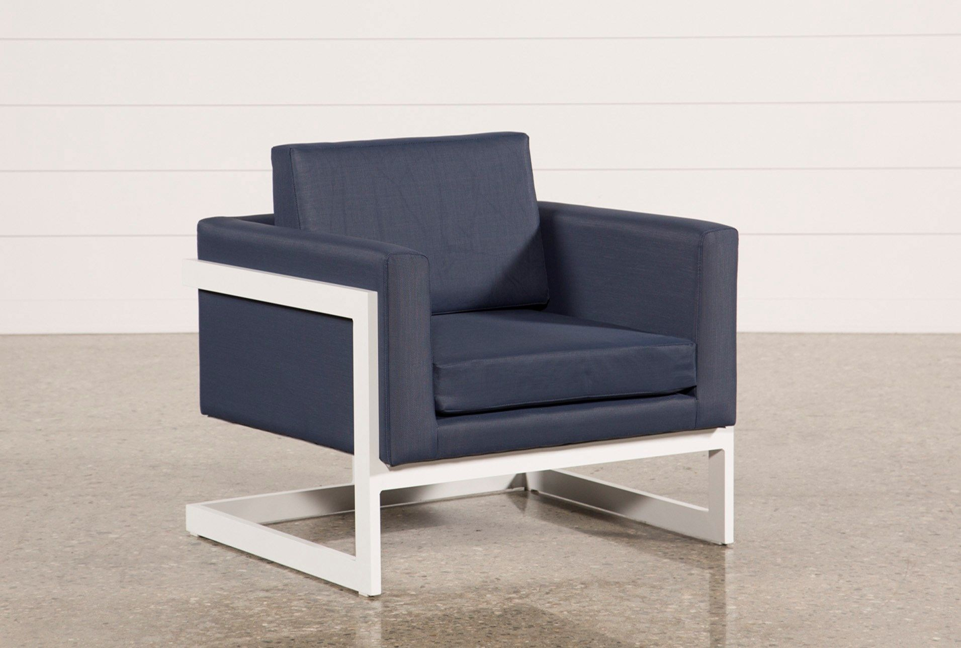 Outdoor Biscayne Ii Navy Lounge Chair | Patio | Pinterest | Patios Intended For Outdoor Koro Swivel Chairs (Image 10 of 25)