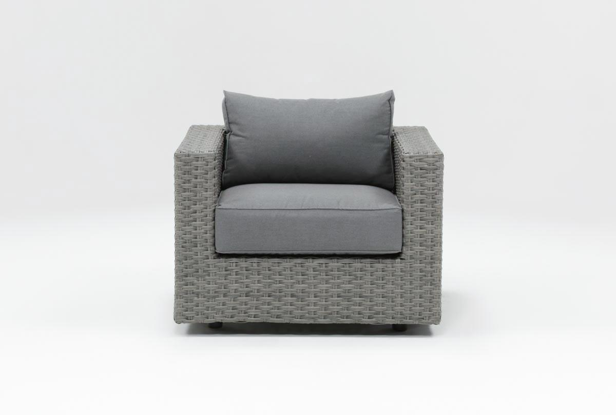 Outdoor Koro Lounge Chair | Living Spaces Regarding Outdoor Koro Swivel Chairs (Photo 1 of 25)