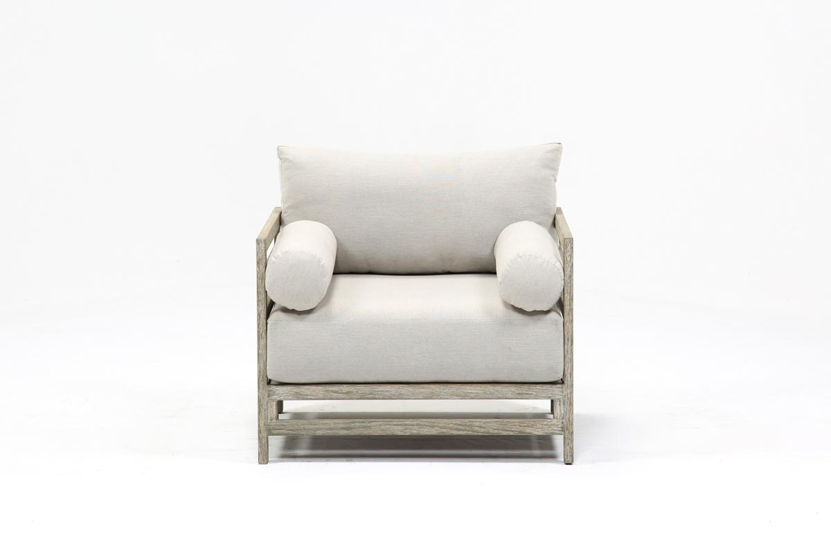 Outdoor Pompeii Lounge Chair | Living Spaces With Regard To Outdoor Koro Swivel Chairs (Photo 16 of 25)