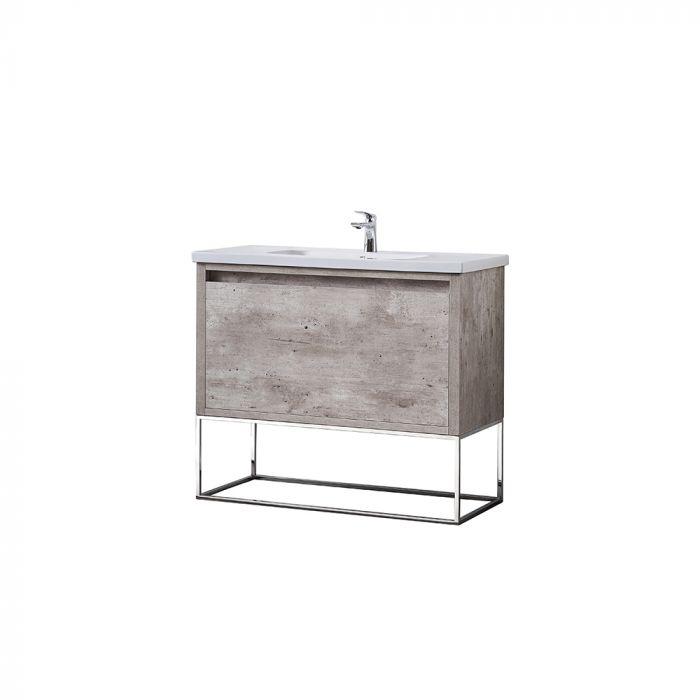 Ove Decors Single Basin Bathroom Vanity, Vanities in Most Recently Released Burnt Oak Metal Sideboards