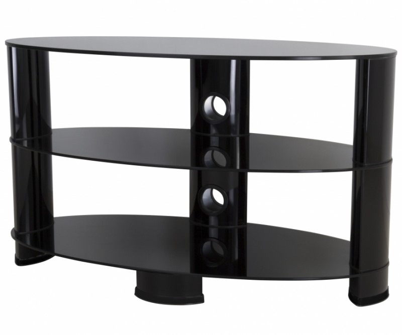 Ovl850Bb: Reflections – Oval Glass Tv Stand – Reflections Tv Stands Intended For Well Liked Oval White Tv Stand (Photo 16 of 25)
