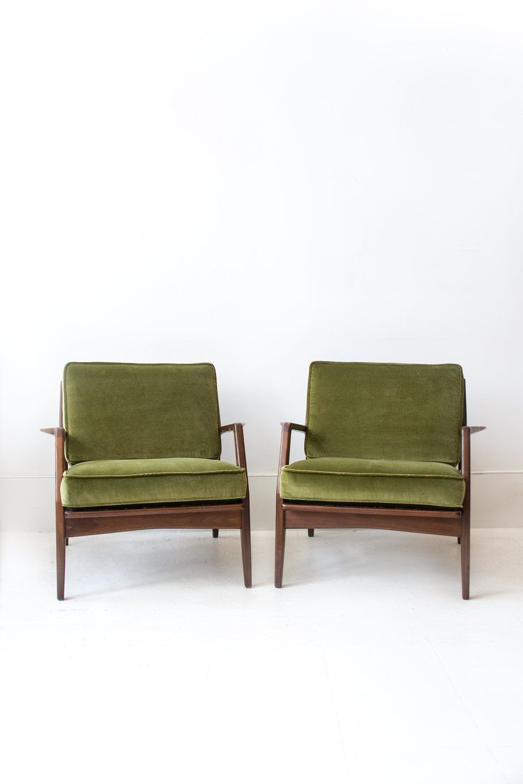 Pair Of Reupholstered Kofod Larsen For Selig Lounge Chairs In 2018 With Gwen Sofa Chairs By Nate Berkus And Jeremiah Brent (View 8 of 25)