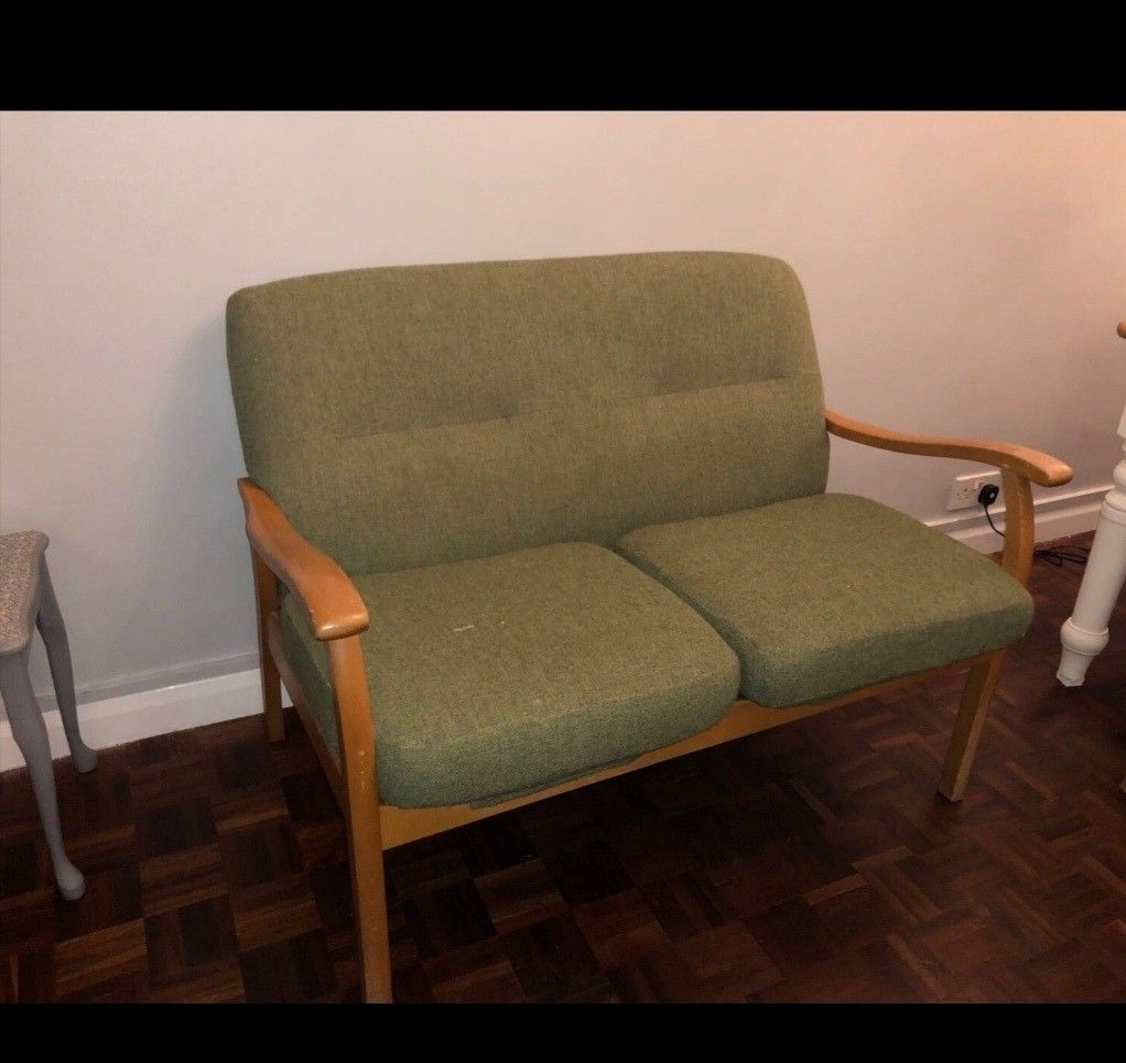 Parker Knoll Green Used Sofa Chair 2 Seater | In Greenwich, London With Parker Sofa Chairs (View 14 of 25)