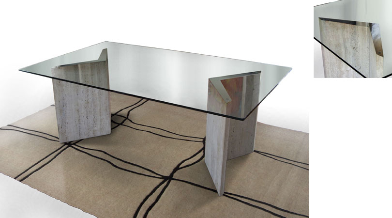 Parsons Clear Glass Top Dark Steel Base 48X16 Console Reviews With Regarding Newest Parsons White Marble Top & Stainless Steel Base 48X16 Console Tables (Image 17 of 25)