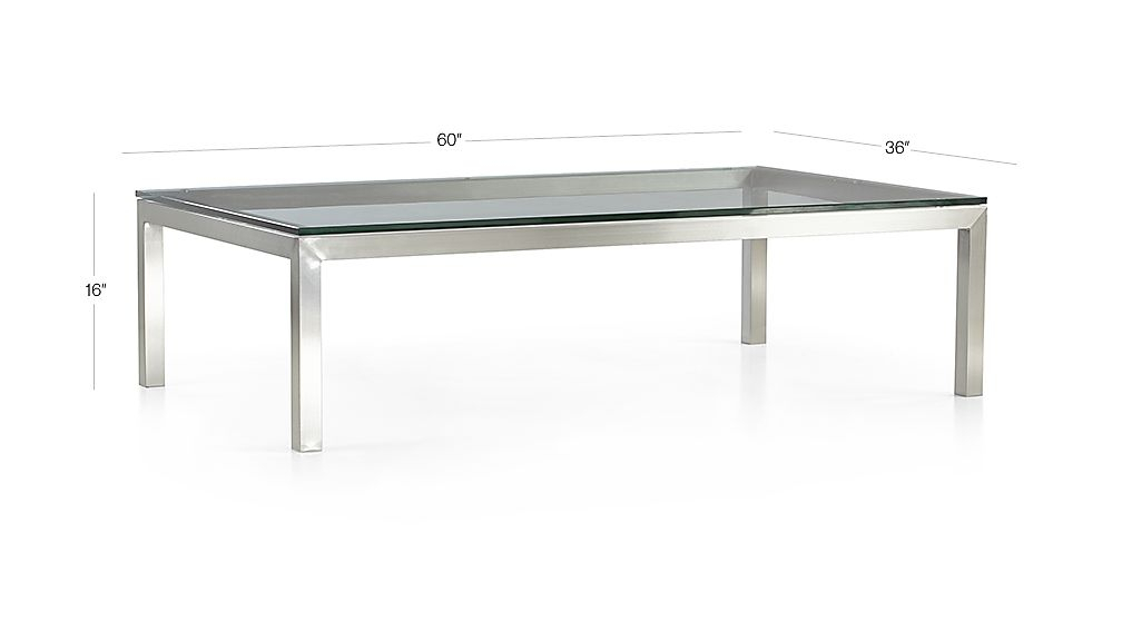 Parsons Clear Glass Top/ Stainless Steel Base 60X36 Large In Latest Parsons Clear Glass Top & Dark Steel Base 48X16 Console Tables (View 12 of 25)