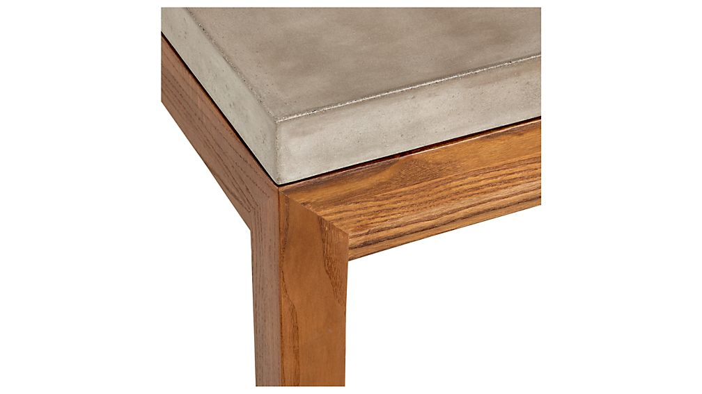 Parsons Concrete Top/ Elm Base 60X36 Large Rectangular Coffee Table Intended For 2018 Parsons Concrete Top & Elm Base 48X16 Console Tables (Image 20 of 25)