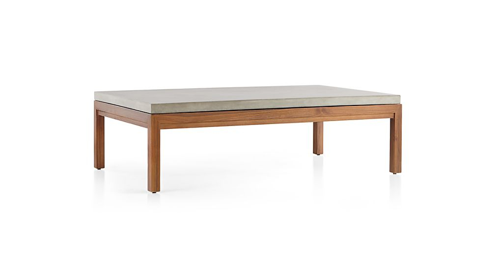 Parsons Concrete Top/ Elm Base 60X36 Large Rectangular Coffee Table With 2018 Parsons White Marble Top & Brass Base 48X16 Console Tables (Image 15 of 25)