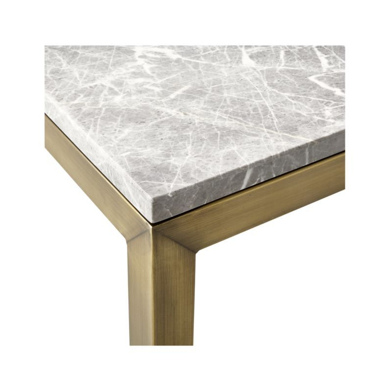 Parsons Grey Marble Top/ Brass Base 60X36 Large Rectangular Coffee Intended For Favorite Parsons Black Marble Top & Elm Base 48X16 Console Tables (View 11 of 25)