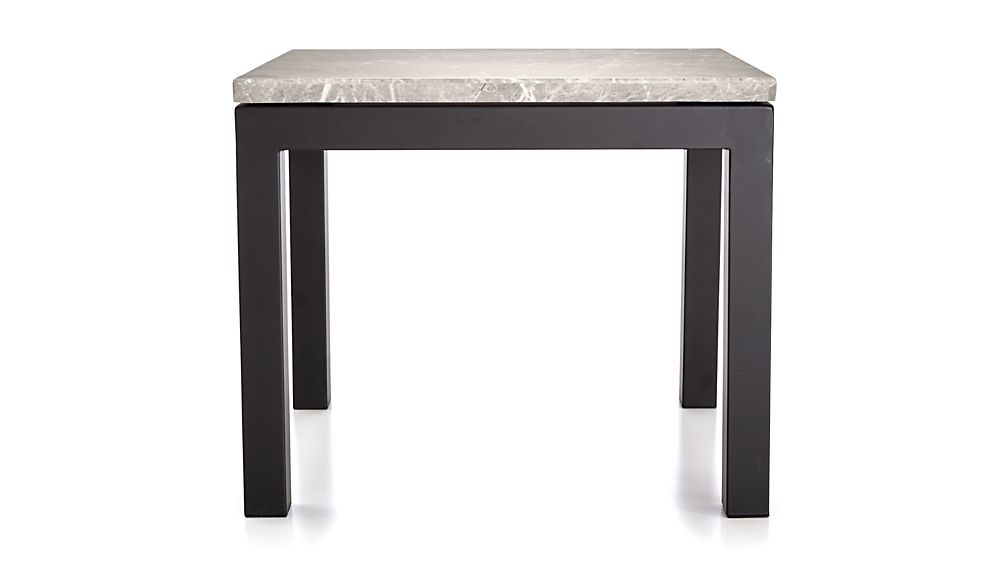 Parsons Grey Marble Top/ Dark Steel Base 20X24 End Table + Reviews In Most Recently Released Parsons White Marble Top & Dark Steel Base 48X16 Console Tables (View 6 of 25)