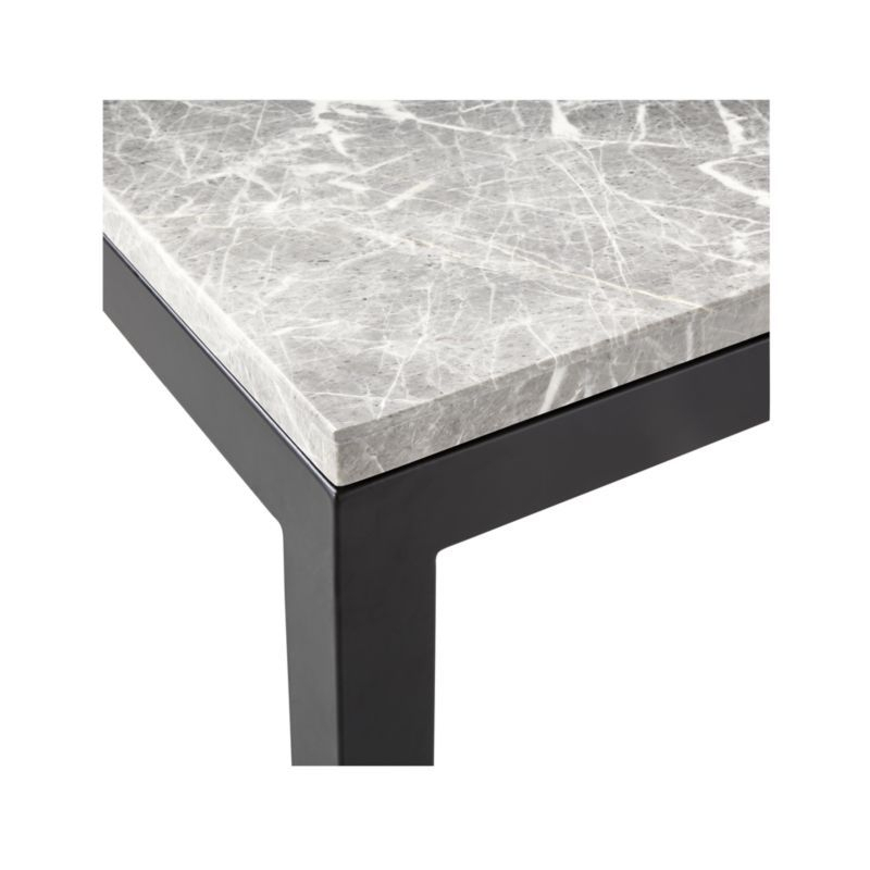Featured Image of Parsons Grey Marble Top & Dark Steel Base 48X16 Console Tables