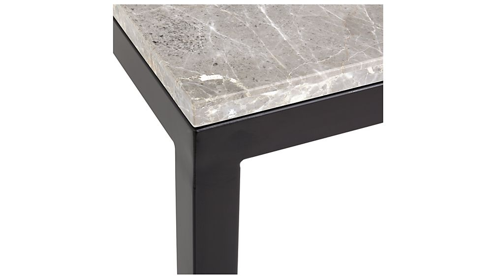 Parsons Grey Marble Top/ Dark Steel Base 60X36 Large Rectangular in Most Recently Released Parsons Grey Marble Top & Brass Base 48X16 Console Tables