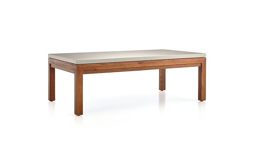 Featured Image of Parsons Grey Solid Surface Top & Elm Base 48X16 Console Tables