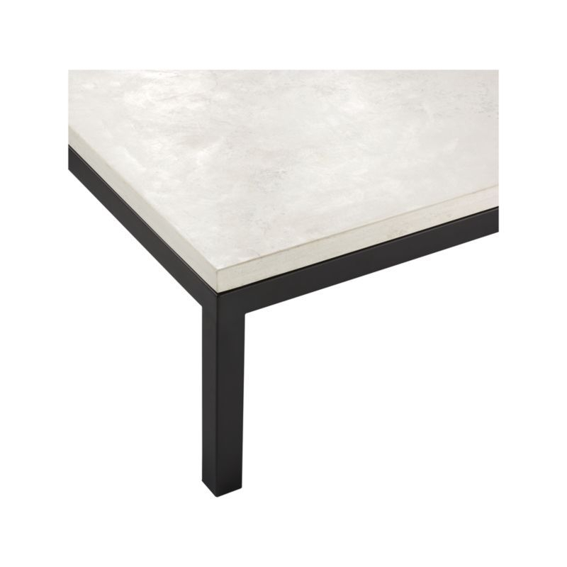 Parsons Travertine Top/ Dark Steel Base 48X16 Console (Image 15 of 25)