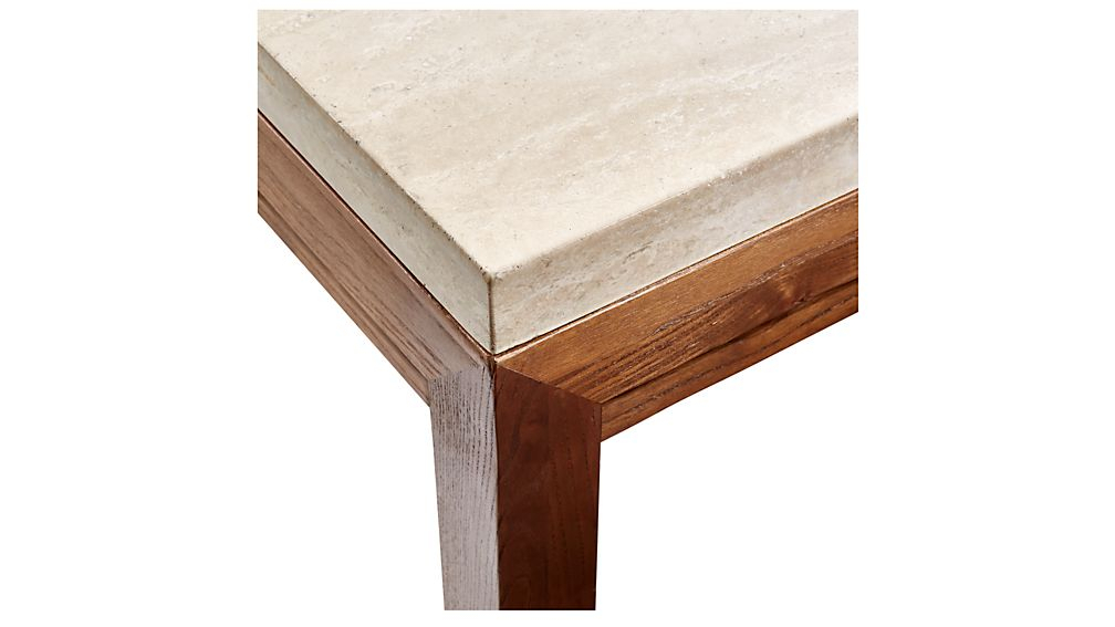 Parsons Travertine Top/ Elm Base 48X16 Console + Reviews (Image 16 of 25)