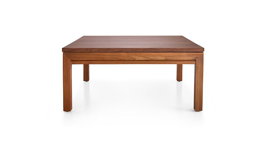 Parsons Walnut Top/ Elm Base 36X36 Square Coffee Table + Reviews For Preferred Parsons Grey Solid Surface Top & Dark Steel Base 48X16 Console Tables (View 17 of 25)