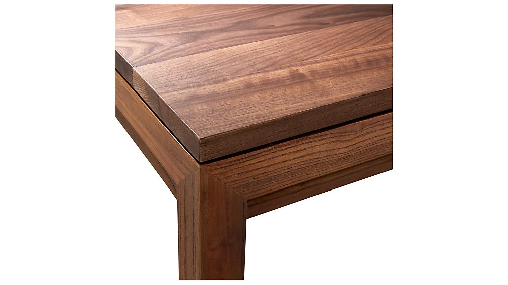 Parsons Walnut Top/ Elm Base 36X36 Square Coffee Table + Reviews in Well-known Parsons Walnut Top & Dark Steel Base 48X16 Console Tables