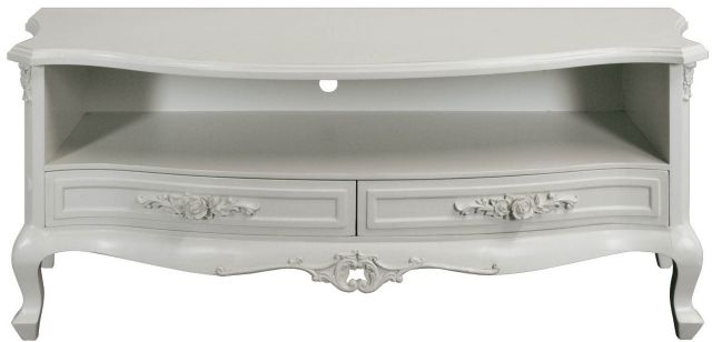 Pd Global Rose French Cream Painted Tv Cabinet - Tv Cabinets - Fit pertaining to Well-liked White Painted Tv Cabinets