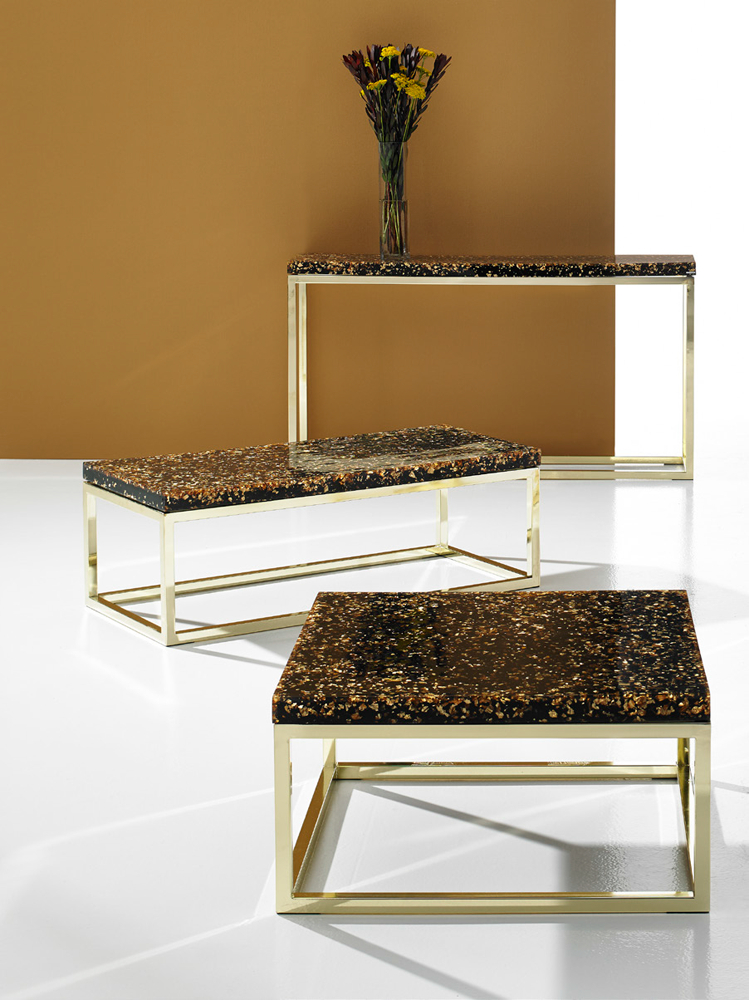 Phillips Collection Captured Gold Flake End Table – Modish Store In 2018 Phillip Brass Console Tables (Image 15 of 25)