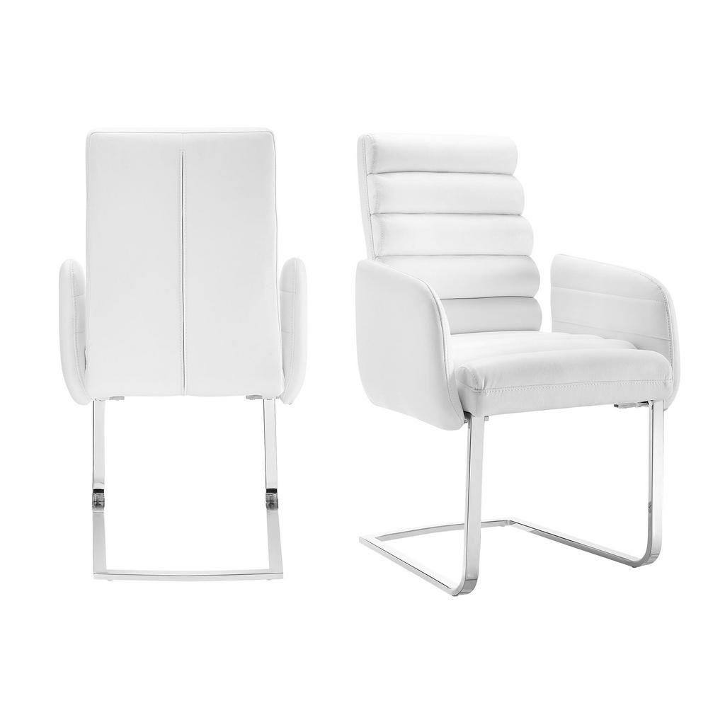 Picket House Furnishings Soho White Modern Arm Chair (Set Of 2 Regarding Patterson Ii Arm Sofa Chairs (Image 12 of 25)