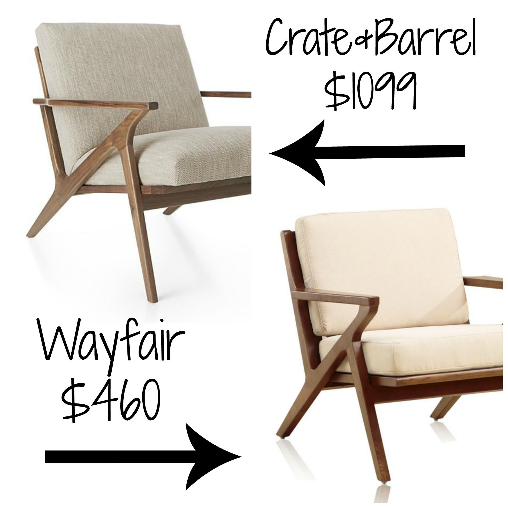 Pindecor Look Alikes On Crate And Barrel Look Alikes | Chair Throughout Alder Grande Ii Swivel Chairs (View 16 of 25)